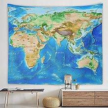 haoyunlai World Map Tapestry Wall Hanging Beach