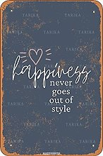 Happiness Never Goes Out Of Style Retro Look 20X30