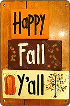 Happy Fall Yall Vintage Look 20 x 30 cm Targa da