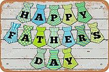 Happy Father'S Day Retro Look 20X30 CM Ferro