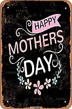 Happy Mothers Day Tin 20X30 CM Vintage Look