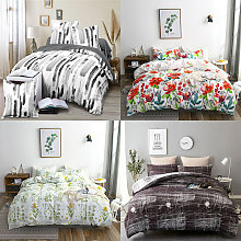 Happyshopping - Biancheria da letto in tessuto per