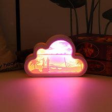 Happyshopping - Creative 3D Decoupage lampada, la
