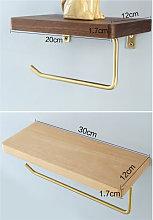 Happyshopping - Portarotolo in legno massello di