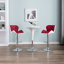 Happyshopping - Sgabelli da Bar 2 pz Rosso Vino in
