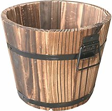 Happyyami 2Pcs Botte di Legno Vasi di Fiori Whisky