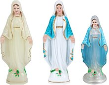 Happyyami 3Pcs Vergine Maria Figurine Nostra
