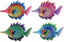 Happyyami 4Pcs di Pesce In Metallo di Arte Della