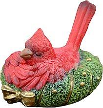 Happyyami Di Natale Cardinals Statua di Dormire su