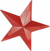 Happyyami Ferro Barn Star Scultura di Arte della