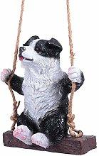 Happyyami Giardino Pensile Animale Statua Del Cane