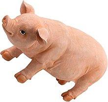 Happyyami In Piedi del Bambino Maiale Statua Piggy