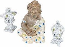 Happyyami Serbatoio di Pesce Statua di Buddha