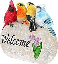 Happyyami Uccello Benvenuto Giardino Statua di