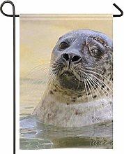 Harbor Seal - Bandiera da giardino, bifacciale in