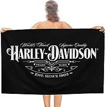 Harley Davidson double face pile Asciugamani da