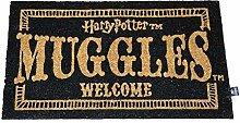 HARRY POTTER Zerbino Muggles Welcome Doormat