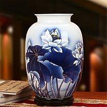 Hbao - Vaso di loto in porcellana, dipinto a mano,