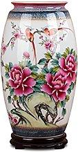 Hbao Vaso in porcellana, glassa di colore, fiore