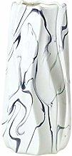 HCHLQLZ 27cm Nero Marmo Fiori Vaso Decorativo di