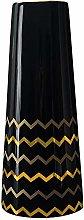 HCHLQLZ 30cm Nero Oro Fiori Vaso Decorativo di