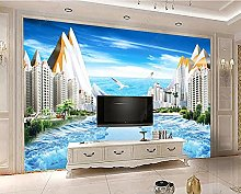 HD vista mare, pittura 3D TV sfondo wall-430 *