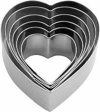 Heart-6-Piece Biscotto a forma di biscotto Set di