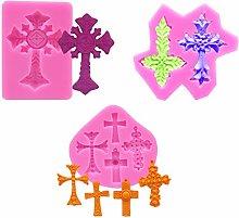 Heilonglu - Stampo in silicone a forma di croce,