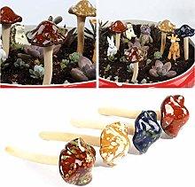 HEITIGN 4 Pezzi Colorati Funghi da Giardino, Fata