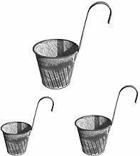 Hemoton 3Pcs Wall Hanging Vasi di Fiori Vaso di
