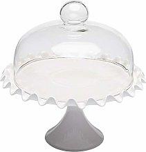 Hemoton - Alzata per torta con cupola in ceramica,