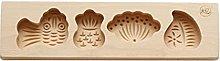 henan - Stampo in legno 3D per biscotti, biscotti,