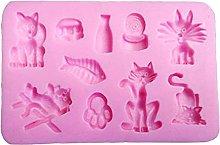 henan - Stampo in silicone per fondente, ideale