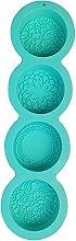 henan - Stampo in silicone per sapone rotondo a 4