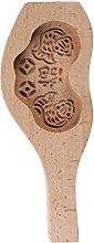 Herafica stampo rotondo in legno intagliato 3D