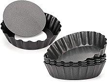 Heritan 12 stampi per torta di uova, 7,6 cm, fondo