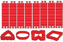 Heritan - Set di 8 stampi per dolci in silicone