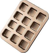 Heritan - Stampo quadrato per muffin,