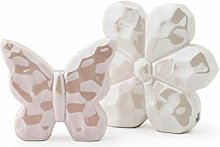 Hervit Set Fiore/Farfalla Porcellana 12/8,5CM