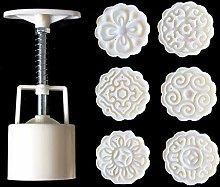 HEYXI Teglia 6 pz Fiori 3D Stamp Moon Cake Decor