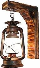 HEZHANG Cinese Rustici Antichi Kerosene Lamp Casa