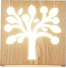 HEZHANG Interni Nordic Wood Wood Lampada da Parete