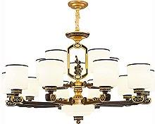 HEZHANG Nuovo lampadario in stile cinese, fari del