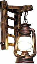 HEZHANG Retro Bamboo Ladder Lampada da Parete Di