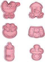 Hfior - Stampo per dolci e biscotti, in plastica