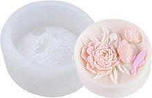 hfior Stampo per torta, in silicone, motivo: fiori