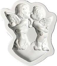 hfior Stampo per torte a tema angelo, fatto a