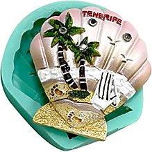 hfior Stampo per torte, albero di cocco a forma di