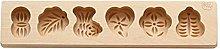 hfior Stampo per torte, in legno 3D, per biscotti,
