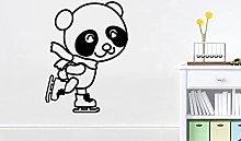 HGFDHG Cartoon Panda Adesivi murali Panda vivaio